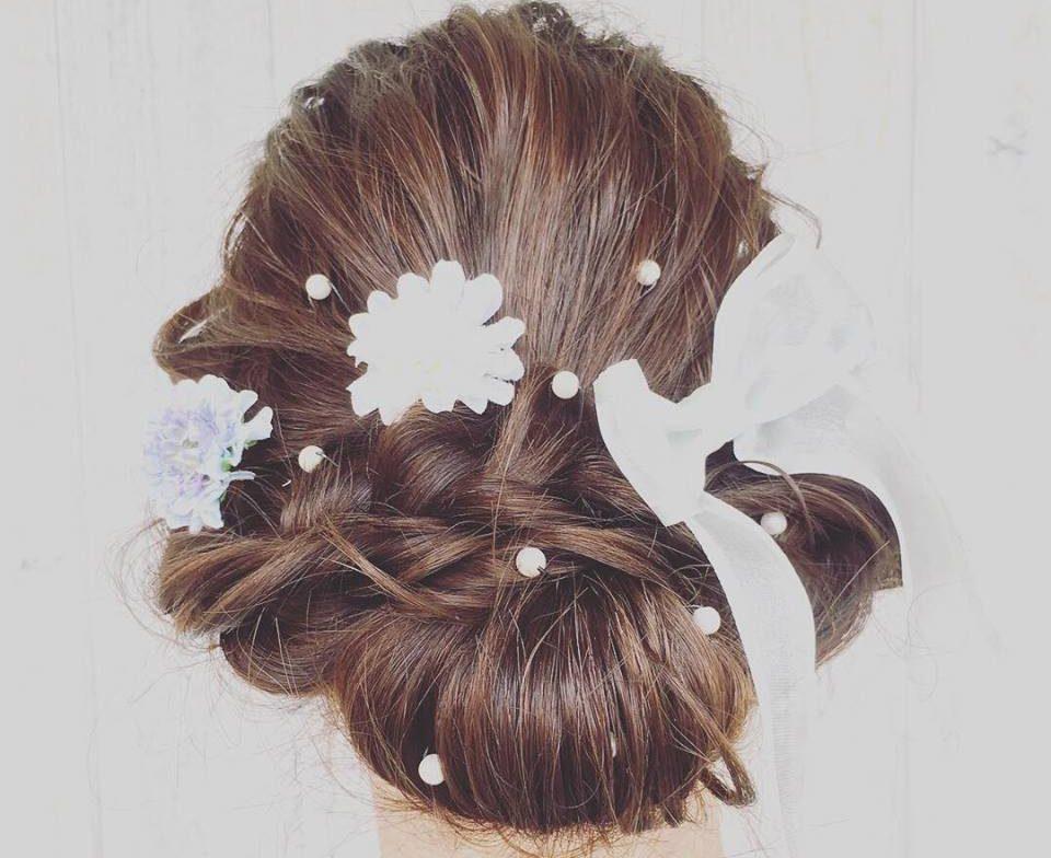 結婚式に合わせたヘアーアレンジ(後ろ髪)