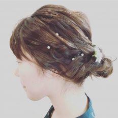 結婚式に合わせたヘアーアレンジ(横髪)